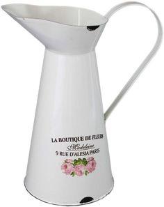 #Emaille #Krug Provence Rose, Home Board, Kettle, Kitchen Appliances, Boutique, Food, Madeleine, Enamels, Diy Kitchen Appliances