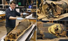 Mummy of 14-year-old boy is revealed as scientists open sarcophagus