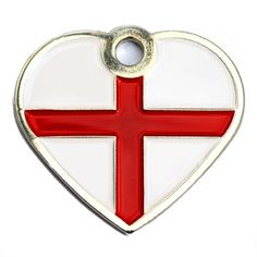 Small St George Flag Dog Id Tag | Happy Dog Days