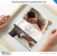 Herringbone photography marketing set for coordinated social media campaign: Facebook, Twitter, Google+ and Postcard by RockaDesign on Etsy