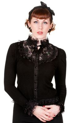 d255f0c5b1 Lace Rose Black Cardigan Gothic Outfits