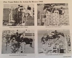 1968 Olympics in Mexico City: Here's the full show jumping team. Iconic riders and horses