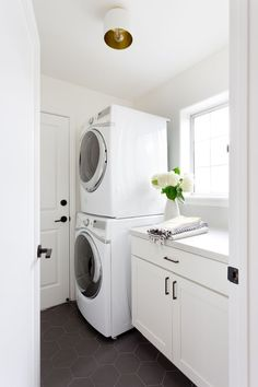 Light and bright laundry room