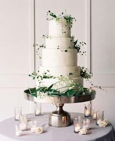 White Wedding Cakes - These gorgeous wedding cake pictures are sure to inspire your wedding cake design. From simple to elegant to chic wedding cakes, there is something for every taste - no pun intended. White Wedding Cakes, Elegant Wedding Cakes, Chic Wedding, Wedding Trends, Wedding Designs, Rustic Wedding, Dream Wedding, Trendy Wedding, 2017 Wedding