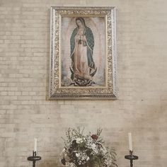 A copy of the miraculous painting of Our Lady of Guadalupe at the Rosary Shrine in Mexico. The original is painted on sackcloth that normally lasts 30 years at most and dates from 1532 the year after Henry VIII broke with Rome. The very first selfie possibly... it was imprinted on Mexican Catholic convert's apron after he carried some roses from a vision of our lady to his local Bishop. 8 million Muslims converted in the decade after the apparition. As the Angel Gabriel prophesied all…