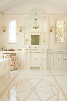 White & blush pink Ideas for a house...just wouldnt fit in my house..that is my whole upstairs, but a girl can dream! HOW ROMANTIC <3