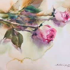 My demo at Watercolor International ll in Thessaloniki, Greece 2014