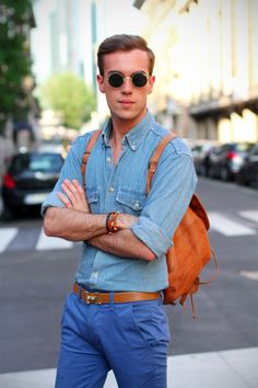 filippocirulli:  Hermes Bangle  Chanel J12  Vintage jeans shirt  Topman chinos  Hermes belt  Belfiore tassel loafers  Vintage backpack  Vintage shades