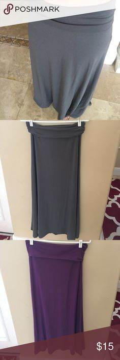 Mossimo maxi skirts Gray or purple. Both are new, no tags. Both size S Mossimo Supply Co Skirts Maxi