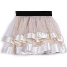 Beige Layered Contrast Trim Lace Short Skirt - Sheinside.com - Dress this up or down. Sweet little skirt.
