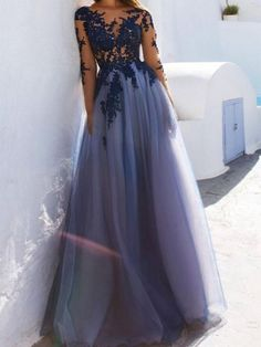Sexy See Through Blue Lace Long Sleeve Open Back Custom Long Evening Prom Dresses Long Sleeves Prom Dresses, Open Back Evening Dresses, Long Prom Dresses, Blue Evening Dresses, Prom Dresses Sexy Prom Dresses 2019 Dark Blue Prom Dresses, Open Back Prom Dresses, Blue Evening Dresses, Prom Dresses Long With Sleeves, A Line Prom Dresses, Tulle Prom Dress, Cheap Prom Dresses, Sexy Dresses, Beautiful Dresses