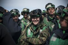 This Navy Sailor is all smiles aboard the aircraft carrier USS George H.W. Bush (CVN-77). #americasnavy #usnavy navy.com