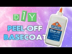 DIY Peel-Off Base Coat For Nails | SF Globe.  Not sure I would use as a base coat because it starts peeling in 2 days but I would use around my nails for easy clean up since I tend to make a mess when painting my nails.
