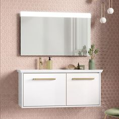 Shop for Crosswater Arena Double Drawer Wall Mounted Vanity Unit & Left Hand Basin with amazing discounts and free delivery on orders over Here at Drench! Blush Bathroom, Bathroom Wall, Bathroom Ideas, Wall Mounted Vanity, Vanity Units, Brushed Stainless Steel, Engineered Wood, Basin