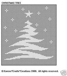 CHRISTMAS TREE Filet Crochet Pattern