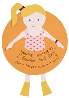 Kids Summer Pool Party Invite