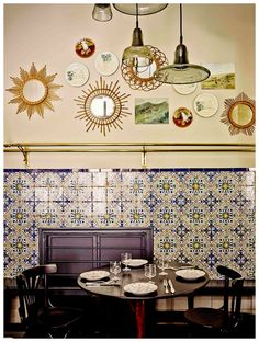 Interior Design Around the World Bar Madrid, Oscar Hotel, Read In French, Dinner Places, Madrid Travel, Old Bar, Spanish Tile, Shop Interiors, Fine Wine