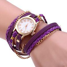 Get it: http://fas.st/bgplG2 [ #Female Charm #Bracelet #Quartz Leather Strap Chain #WristWatch ]