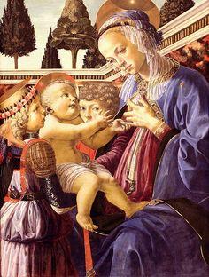 Andrea del Verrocchio. Virgin and Child with Angels. 1467-69 |