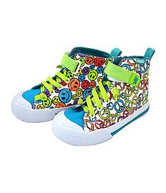 8c8ee2e65d32 These sneaks are sure to fuel miles of fun with their playful mix-up of  patterns and colors. Kids will love that each shoe features a separate and  unique ...