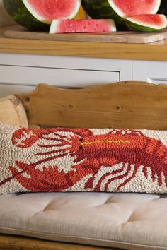Summer is lobster & watermelons! And a nubbly wool lobster is always sharp-looking!