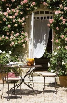 Yes, please! Those roses ...those curtains...the table and chairs...ok, everything!