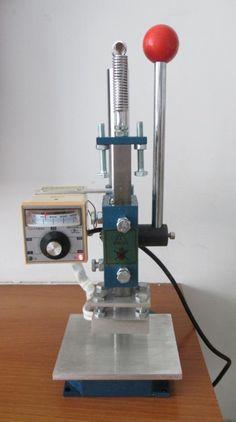 5x7cm Manual Stamping Machine leather printer Creasing machine hot foil stamping machine marking press embossing machine