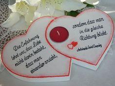 Weiteres - Herzen - Geschenk für Hochzeit, Ehejubiläum - ein Designerstück von Bastelimperium bei DaWanda