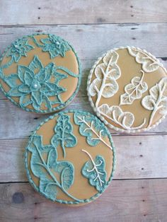 Brush embroidery fall leaves