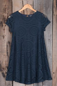 You're on the right track. Product Code: CLYQ500 Details: Delicate lace Hollow design A-line Short sleeve With lining Regular wash Fabric: 100%Polyester Free Sh