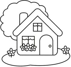 Precious Tips for Outdoor Gardens In general, almost half of the houses in the world… House Colouring Pages, Easy Coloring Pages, Coloring Pages For Kids, Coloring Books, House Drawing For Kids, Easy Drawings For Kids, Art For Kids, Crafts For Kids, Applique Patterns