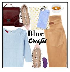 """❤Blue Outfit❤"" by puddingis ❤ liked on Polyvore featuring interior, interiors, interior design, home, home decor, interior decorating, HUGO, Loeffler Randall, Valentino and AG Adriano Goldschmied"