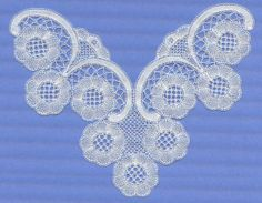 very simple modern Honiton lace