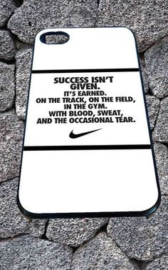 nike quote with logo for iPhone 4/4s, iPhone 5/5S/5C/6, Samsung S3/S4/S5 Unique Case *99* - PHONECASELOVE