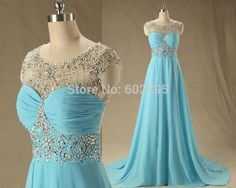 Find More Prom Dresses Information about Elegant Real Photo Blue Long Prom Dress With Stones Scoop Neck Chiffon Sheer Dresses Prom Capped Sleeves Hollow Back Customized,High Quality dress me prom dresses,China dress shell Suppliers, Cheap dress male from youthbridal on Aliexpress.com
