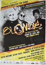 BLONDIE 2005 SINGAPORE CONCERT TOUR POSTER -Debbie Harry, Punk New Wave Legends!