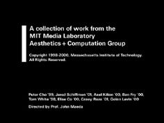 A collection of work by the pioneering Aesthetics + Computation Group 1998-2000 / via Jonathan Minard