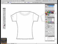 Adobe Illustrator for fashion flat sketch pen tool tutorial.