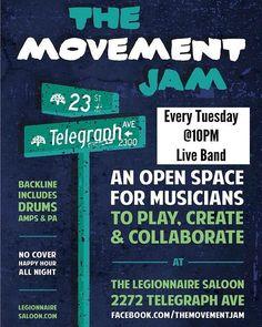 LIVE MUSIC: The Movement Jam #oaklandmovingforward #oakland