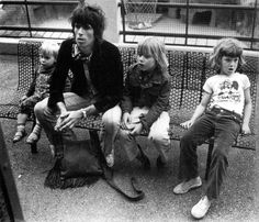 Keith Richards, Marlon and Angela, France, 1971 by Dominique Tarle Exile On Main St, Rolling Stones Keith Richards, Rolling Stones Logo, Ron Woods, Singer One, Charlie Watts, Great Albums, Northern Soul, Dominique