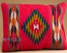 Hand Woven Southwestern Zapotec Pillow 12x16 (f)