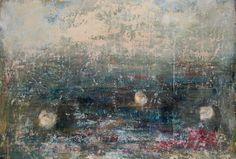 "Saatchi Art Artist Katrin Valdre; Painting, ""Water Lilies II"" #art"