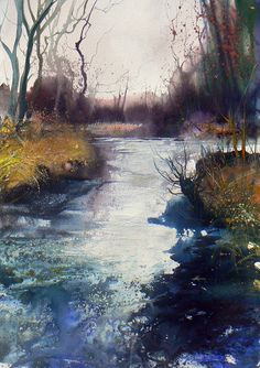 Pete Gilbert | New Forest Artist | Gallery - the water has so much movement - so skilful.