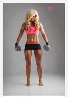 For a girl just starting out with weight lifting, this girl is the ideal goal.