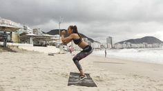 Supermodel Izabel Goulart's Brazilian Beach Workout in 4 Body-Sculpting GIFs