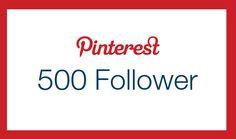 Wir freuen uns über 500 #Pinterest #Follower :)