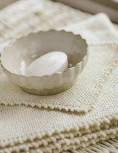 purl soho  picot edge baby blanket and washcloth (churchmouse yarns)
