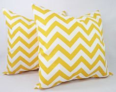 This listing is for ONE yellow couch pillow cover in a deep yellow and white print. This throw pillow cover can be made to fit any size pillow insert and is 100% cotton. Simply select the size and fabric you would like at checkout. To add multiple pillow covers to your cart, you can increase the quantity, or add the pillow covers to your cart one at a time. *****This listing is for one pillow cover, the inserts are not included.*****  1. Chevron - Slub Fabric 2. Suzani - Slub Fabric 3…