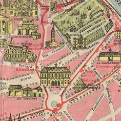 Europe Maps France Bois De Boulogne 1965 Old Vintage Map Plan Chart