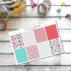 NEW! Peppermint Mocha Latte Holiday Planner Stickers ~ Winter Planner Stickers ~ Full Box Stickers for Erin Condren Life Planner